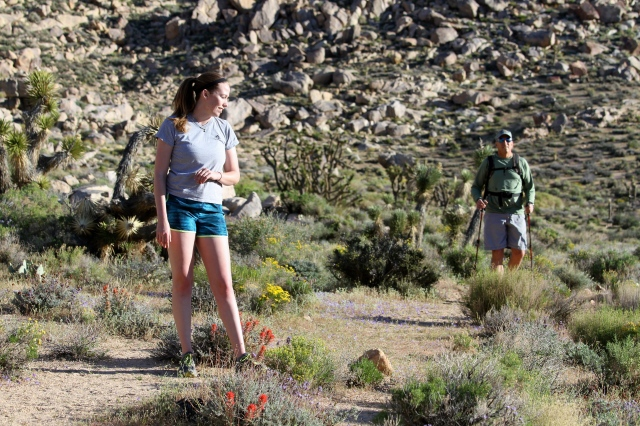 Kalie and Brad, short canyon , March 2015